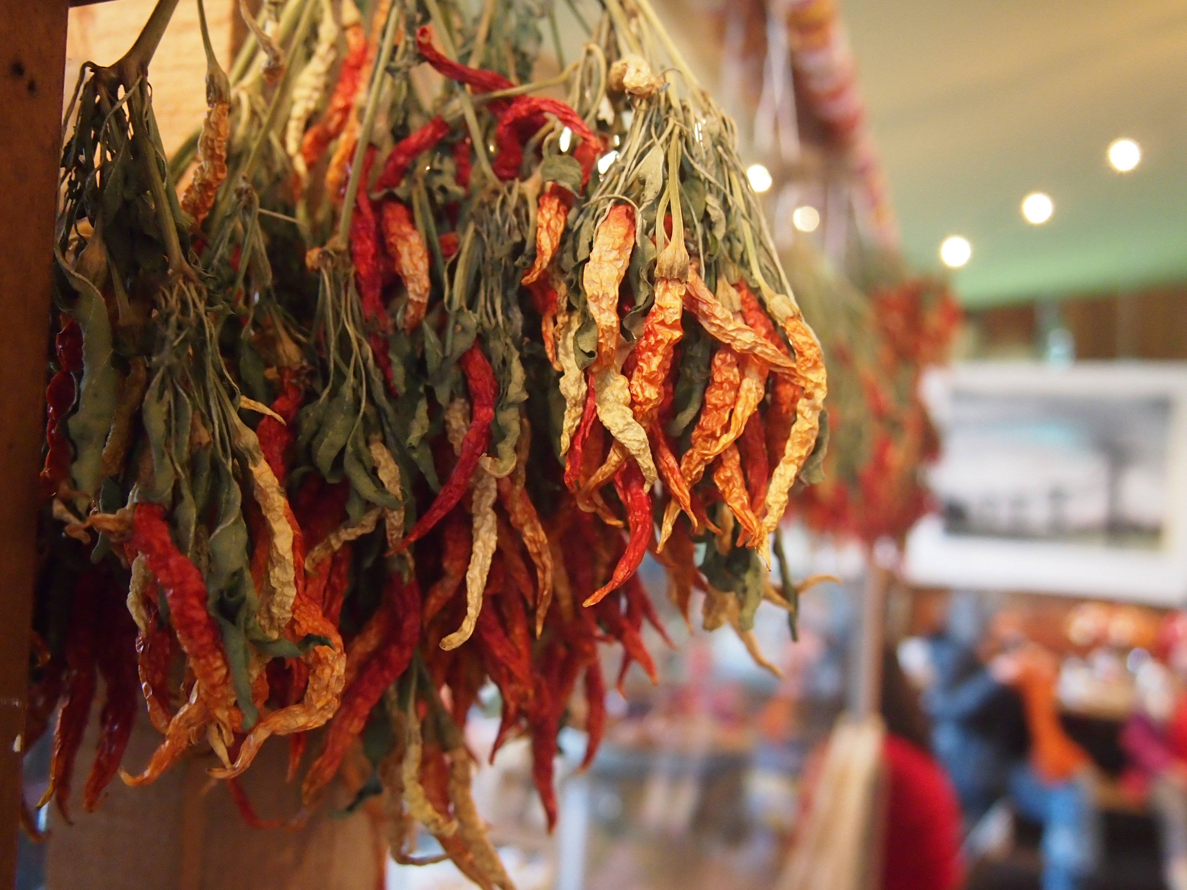 Dried chilies at Tweets, Edison, WA